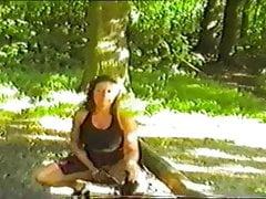 mature British Bee outdoor flashing suck and fuck