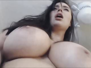 Big Ass Wet Big Natural Tits video: Big Ass Babe Plays Her Wet Cunt