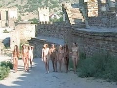 young nudists walking