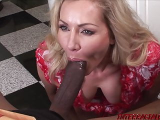 Hardcore Blowjob Milf video: Married MILF Lisa Demarco sucks BBC before interracial ride