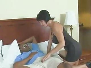 .Sexy white milf destroyed by black daddy.