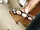 candid hot ass an wedges heels
