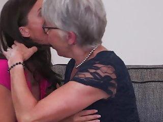 Lesbian Mature Granny video: Granny seduce MILF