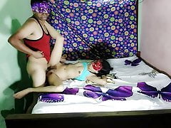 Very hot indian Desi sexy bhabhi acting as young girl fucked