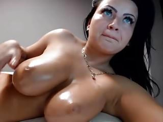 .Perfect brunette babe masturbating on webcam.