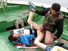 Japanese Teen, Nonoka Kaede Got Torn Up In The Boat, Uncensor