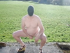 Naked outdoor at wifes friends house