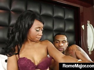 Lingerie Black Small Tits video: BBC Rome Major Fucks Chocolate Chick Mocha Menage!