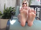 Randy Moore Teases With Her Oiled Up Feet And Legs