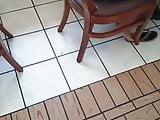 Candid flip flops feet