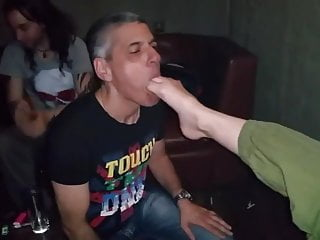 Femdom video: lick feet