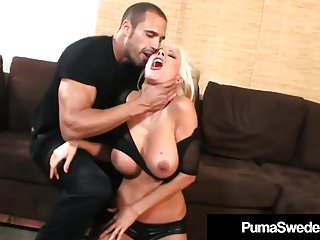 Blowjobs Cumshots video: Blonde Amazon Puma Swede Pussy Pounded In High Heeled Boots!