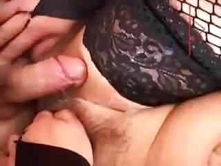 .Mature mother fucked by two young boys.