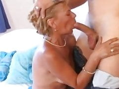 Sexy short hair blonde MILF