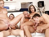Bisexual orgy in the spa
