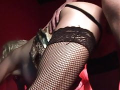 Jasmine and friend share a bouncy dude that nails them rough in a FFM sex