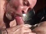 Friend sucking big cock