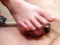 Zrujnowany orgazm w czystości w seksownych palcach