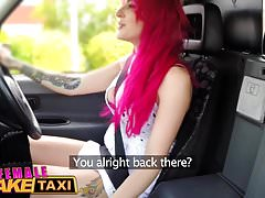 Female Fake Taxi Busty squirting babe fucked i facialised