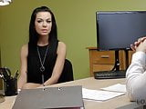 VIP4K. Skinny brunette passes real sex casting at loan agenc