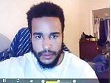 handsome black guy stroking