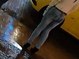 Ass Season - #95 tight jeans in street