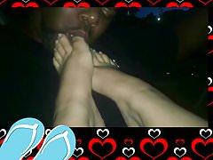 Meine Füße im Auto gefressen bekommen