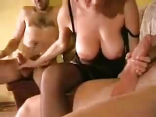 Group Sex Amateur video: Swingers. Hot girl with 2 man