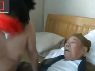 Matures Group Sex video: two grandpa, a whore and a pimp-operator