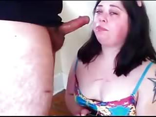 Submissive bbw knowing her role in life.
