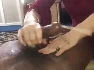 Interracial Handjobs Showing video: Showed her mom want black nut look like