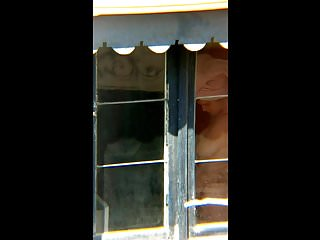 Voyeur Flashing Window video: Neighbor spy window 32