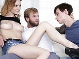 Bisexual step dad fucks younger couple