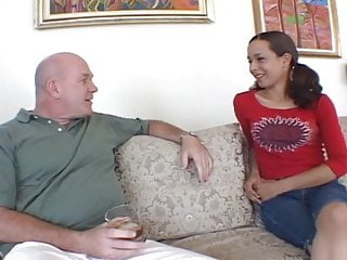 Hardcore Teen Blowjob video: Cute Teen with old man