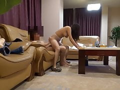 Petite Japanese Nymph Screwed In All Postures On The Sofa