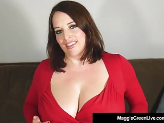 Big Boobed Boss Maggie Green Finger Bangs Her Hot Wet Pussy!