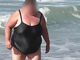 ssbbw granny in the black wet swimsuit