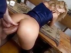Shameless Wife Takes Her Insurance Agent'S BIg Cock In Ass