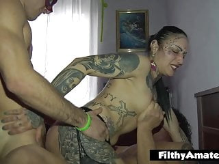 DP and cumshot for the yoga teacher in amateur sextape