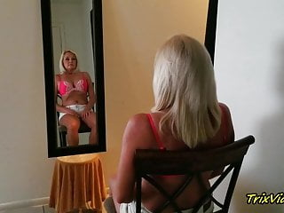 .The Erotic Blonde in the Mirror with Ms Paris Rose.