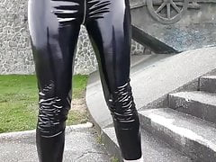 Leggings in PVC vinilico