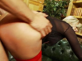 Stockings Tits Blonde video: librarian fucked