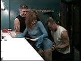 Red Double Penetrated In The Dressing Room