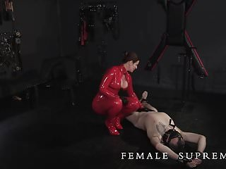 Femdom Latex Whipping video: Low Hanging Fruit Part 1