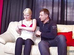 Casting Real Porn per Teen bionda tedesca Christin con Jason