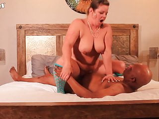 Interracial Blowjob Big Tits video: Mandie Maytag and Neil Stroker decide to get drunk and screw
