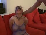 Blonde slut  slapped and bagged