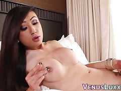 Stunning Shemale Venus Lux Works On Her Delicious Man Meat All Alone