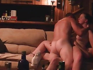 Cuckold Brunette Threesome video: my friend share with me his wife