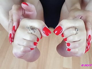 German Femdom video: Sexy Lena and her beautiful feet